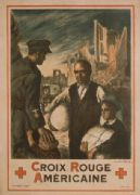 French WW1 poster - Croix Rouge américain